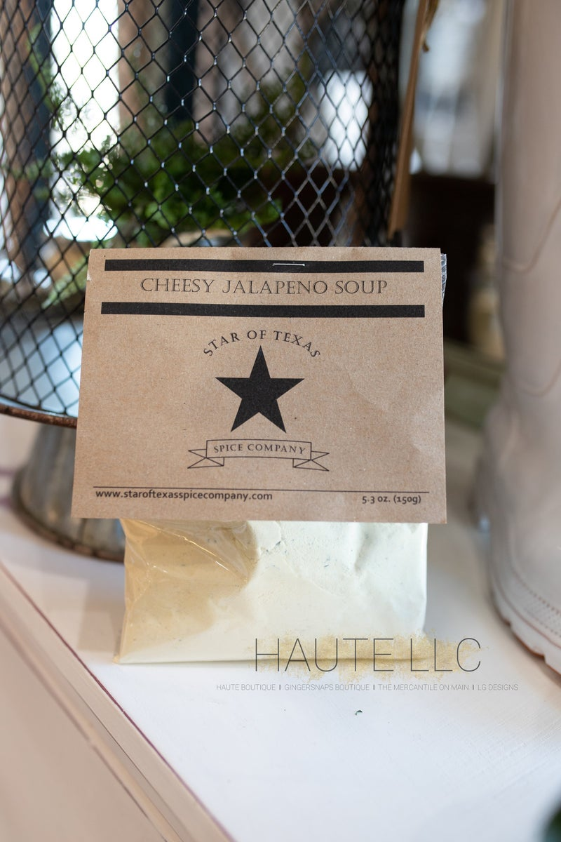 Cheesy Jalapeno Soup - Star of Texas *Final Sale*