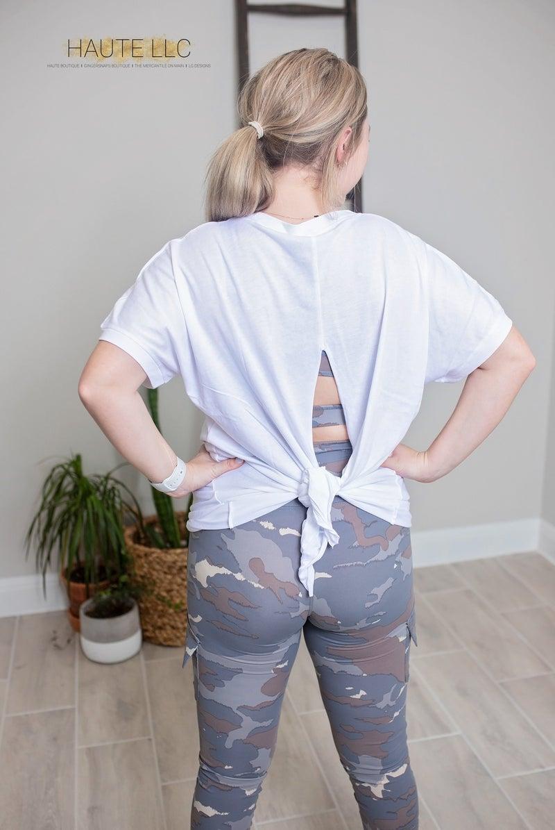 Teagan Tie-Back Top - White