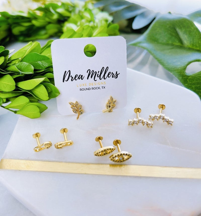 DM Flat Back Push Pin Studs