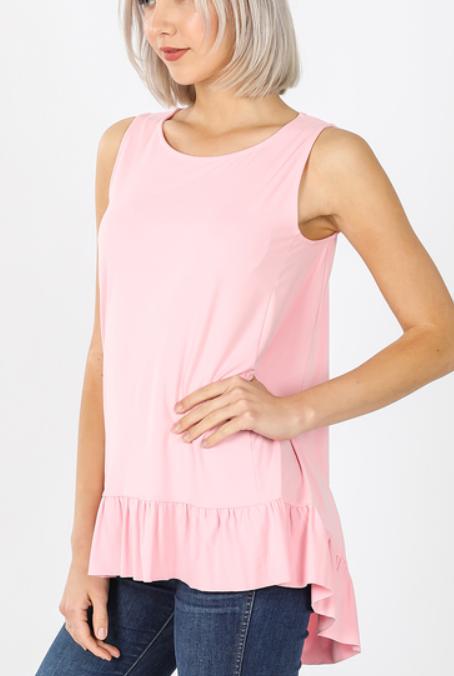 No Frills Sleeveless Tunic - Dusty Pink