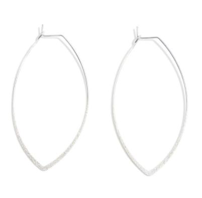 Shimmering Pointed Hoop Earrings