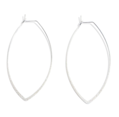 Shimmering Pointed Hoop Earrings