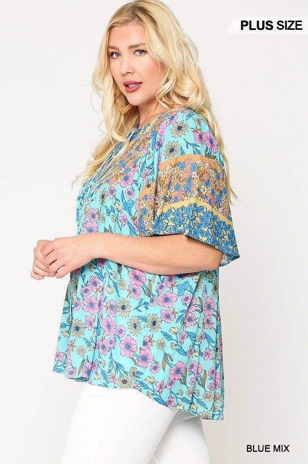 New England Nights Floral Top
