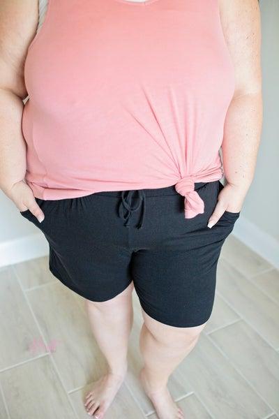 Paperbag Lounge Shorts - Black