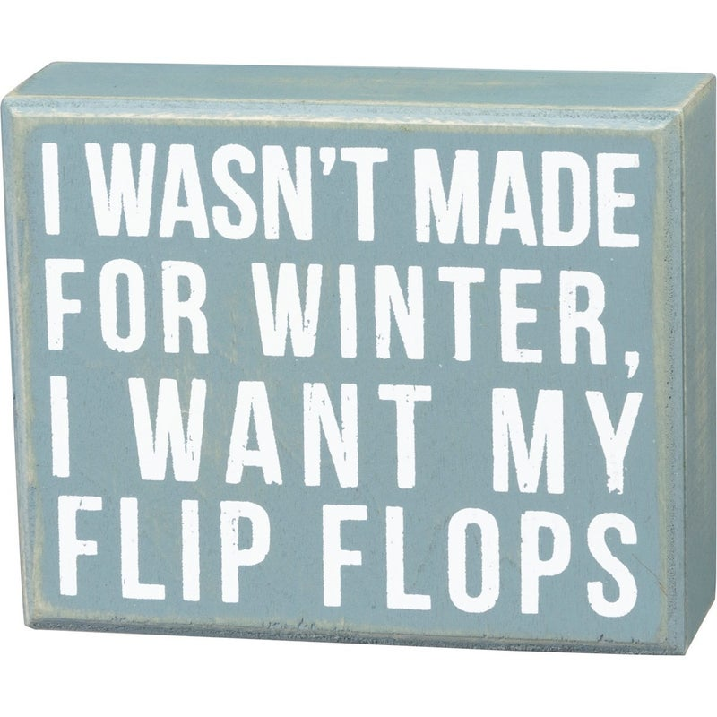 Made For Winter Box Sign