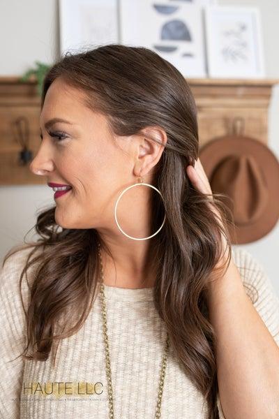 LP Forward Facing Hoop Earrings (large)