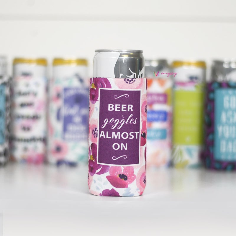 Beer Goggles Almost On Slim Can Cooler