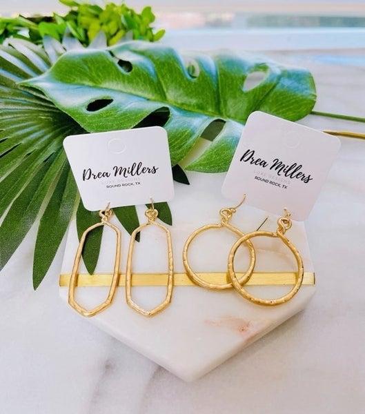 DM Gold Twist Earrings