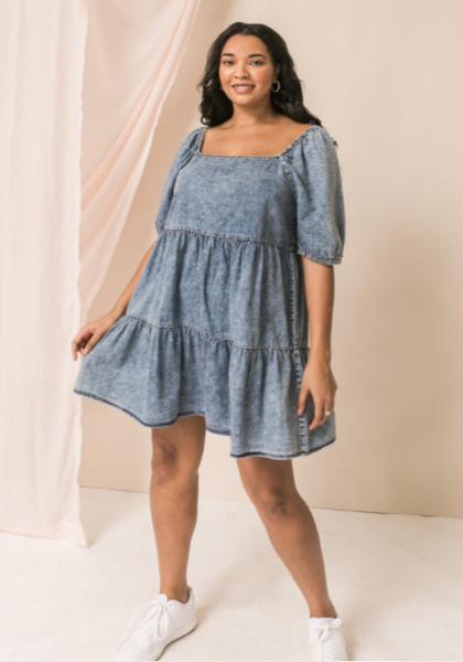 Sunny Day Chambray Mini Dress