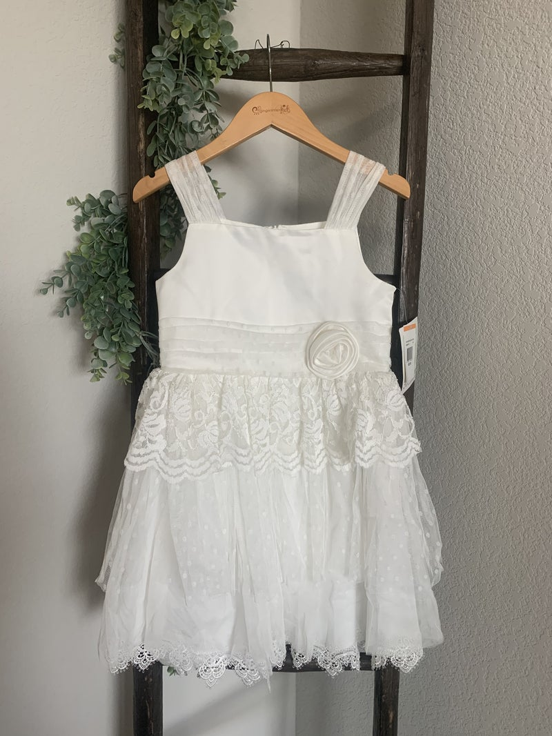 Ivory Tiered Skirt Party Dress *Final Sale*