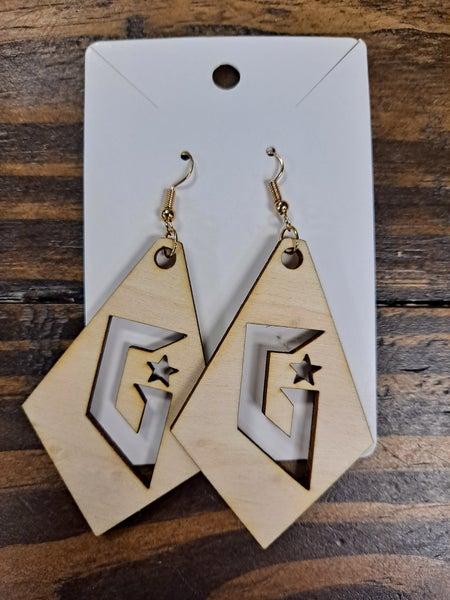 """PREORDER Gateway """"G"""" Wood Drop Earrings *Final Sale*"""