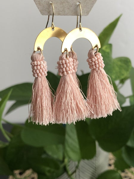 SG Blush Beaded Tassel
