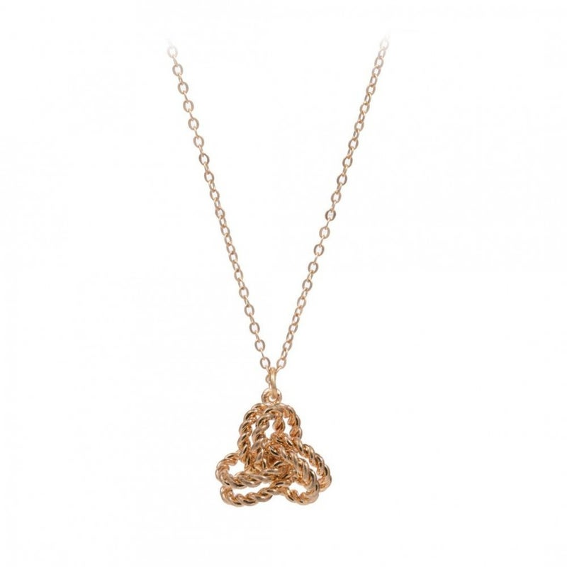 Knotted Pendant Necklace - Gold