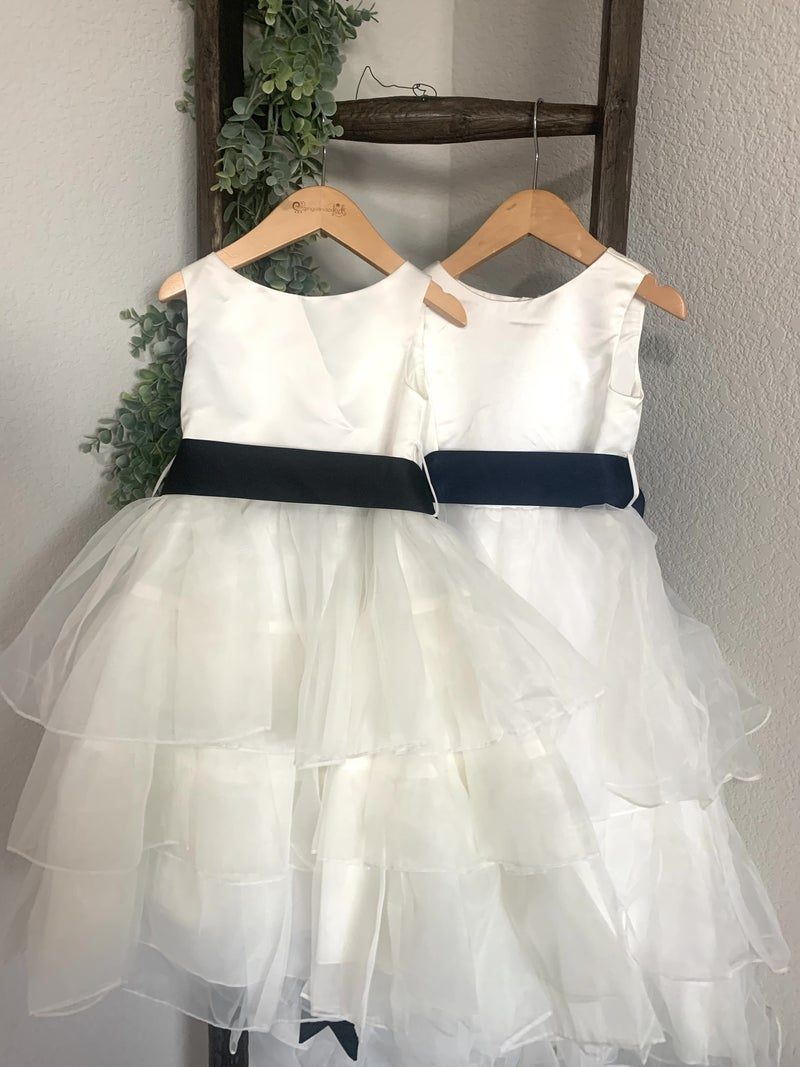Tiered Organza Dress with Ribbon *Final Sale*