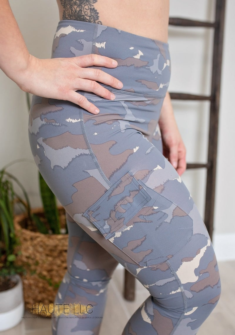 Blue Tundra Camo Highwaist Leggings