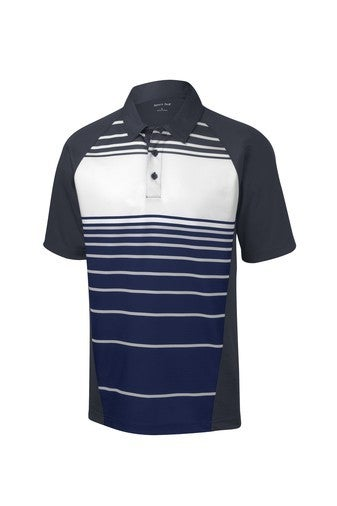 PREORDER Sublimated Stripe Polo - Navy *Final Sale*