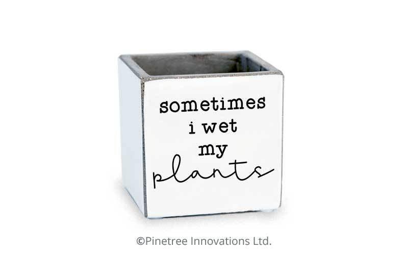 Sometimes I Wet My Plants Planter