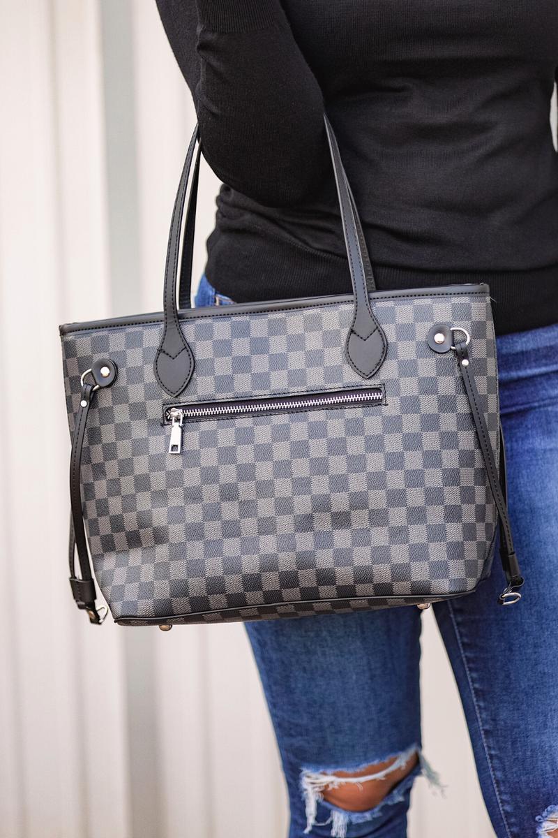 Tory Checkered Handbag