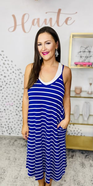 Ready for the Weekend Dress - Bright Blue