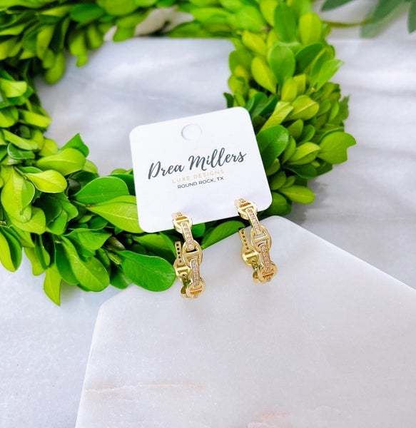 DM Gold and Diamond Hoops