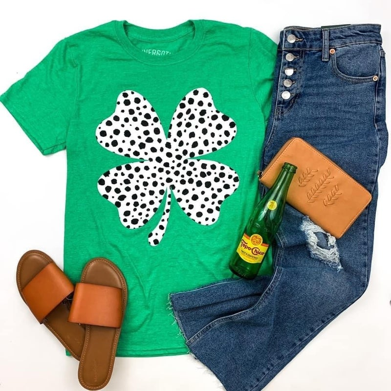 Lucky Me Spotted Clover Tee