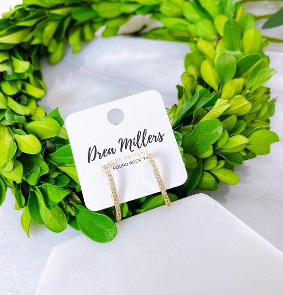 DM Micro Studded C-Shaped Earrings