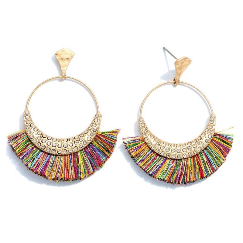 PRE-SALE Rhinestone Fringe Earrings