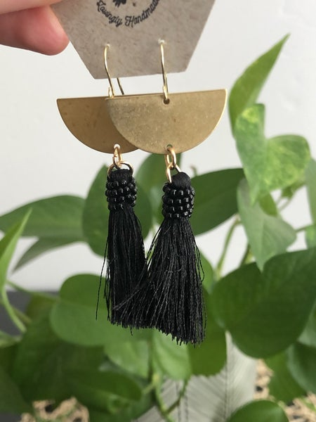 SG Black Beaded Tassel