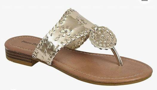 Gold Rush Medallion Sandals *Final Sale*
