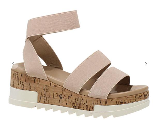 Brenda Strappy Platform Sandals - Beige *Final Sale*