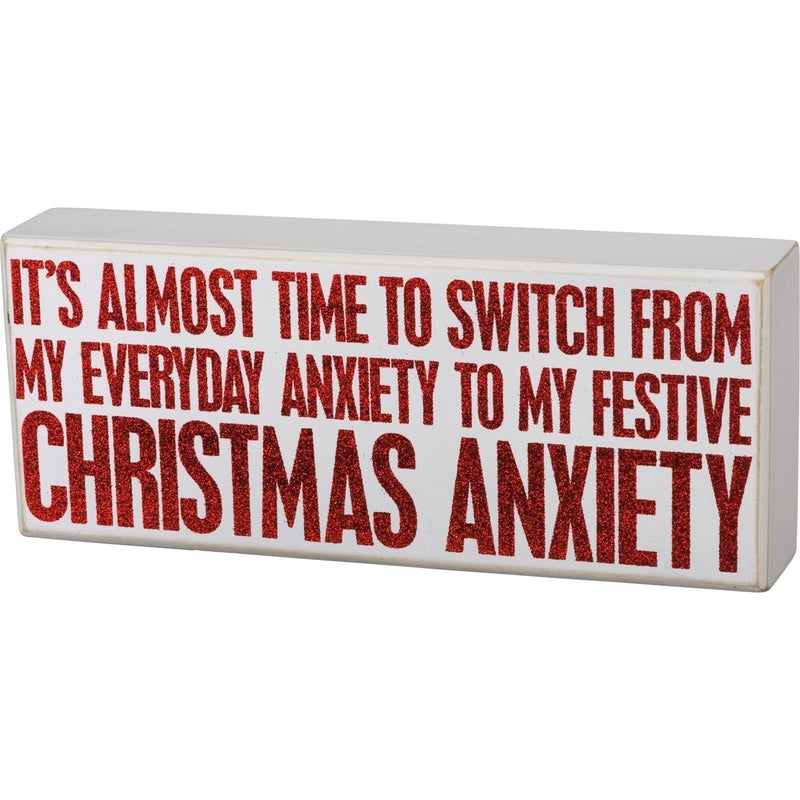 Christmas Anxiety Sign
