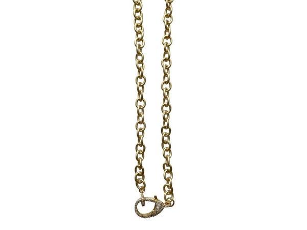 Charm Necklace CZ Chain