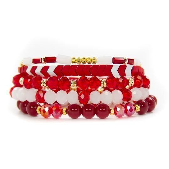 Red Sedona Bracelet Stack