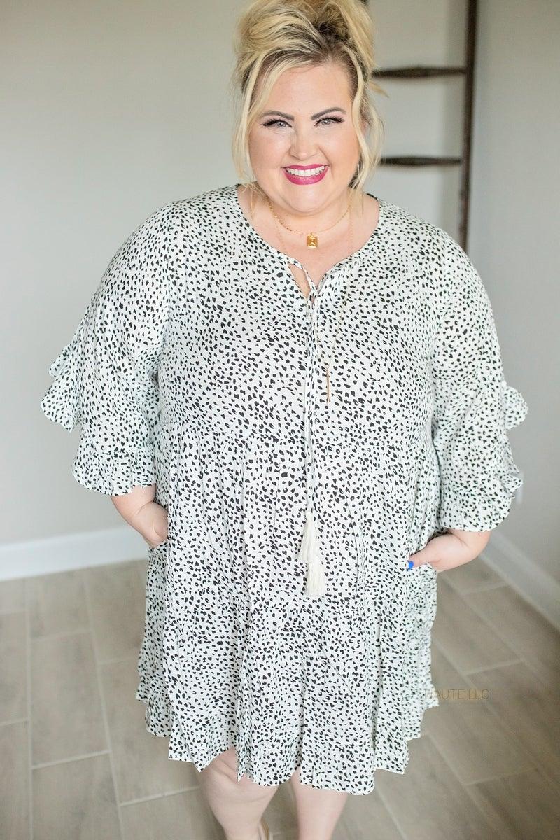Spotted on a Sunday Ruffle Dress