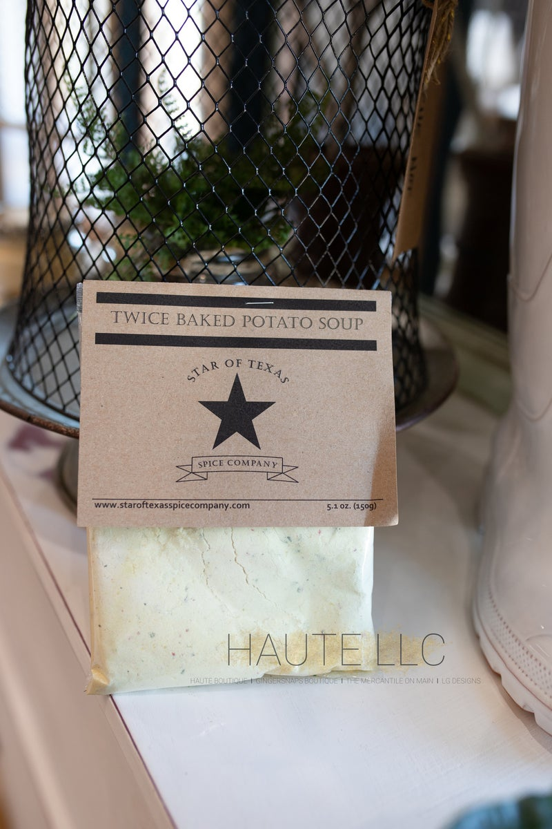 Twice Baked Potato Soup - Star of Texas *Final Sale*