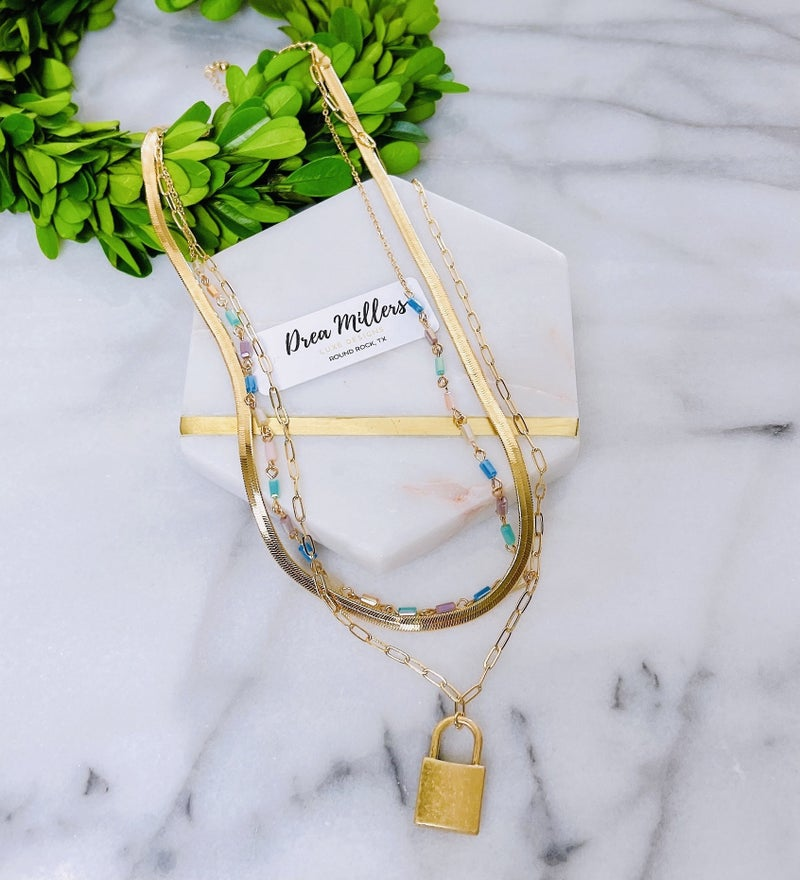DM West Beach Layered Necklace