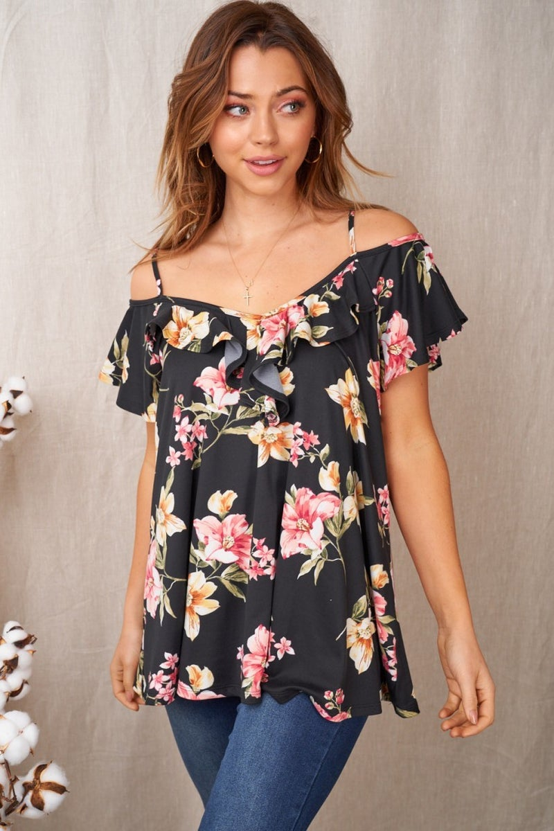 Lilies in the Dark  Cold Shoulder Top