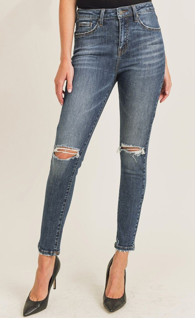 Distressed Perfection Jeans - Dark