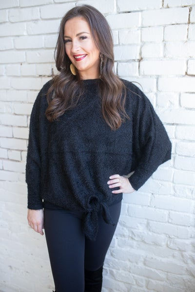 Trendsetter Batwing Top - Black