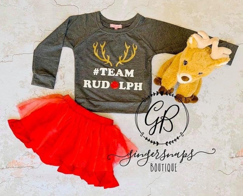 Team Rudolph Girls Top