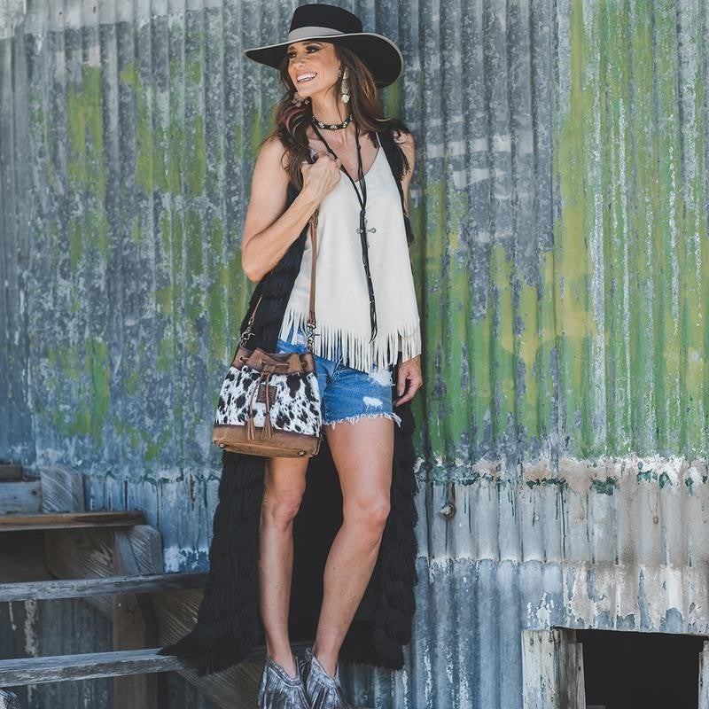 STS Cowhide Bucket Bag