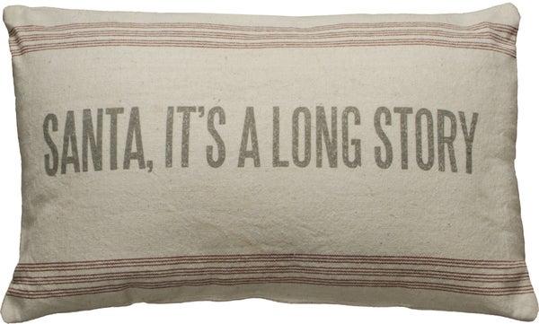 Long Story Pillow