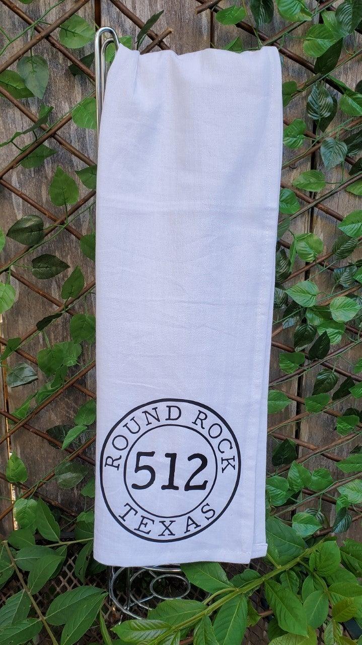 Round Rock Flour Sack Towel