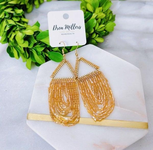DM Beaded Loop Earrings
