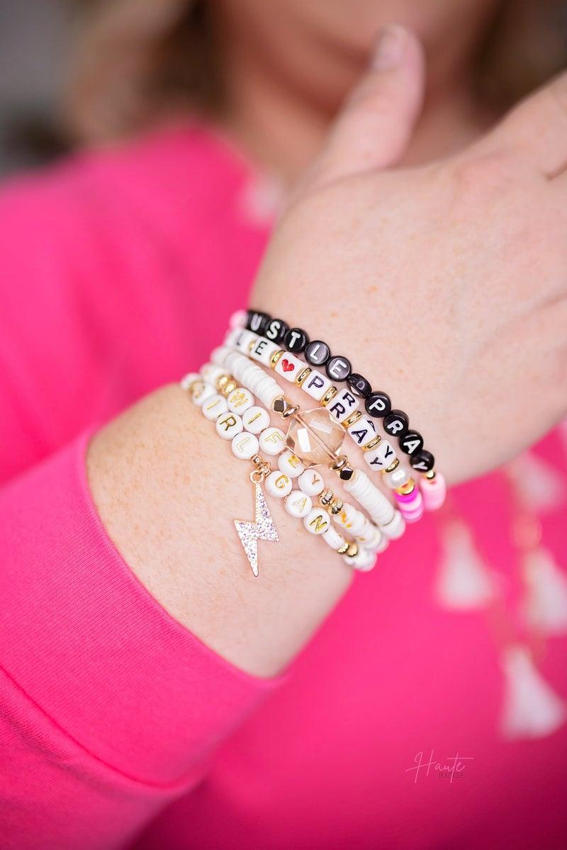 Flat Beaded Bracelets