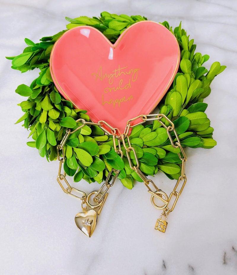DM Gold Chain Bracelet