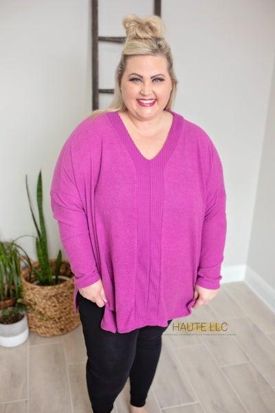Magenta Knit Pullover