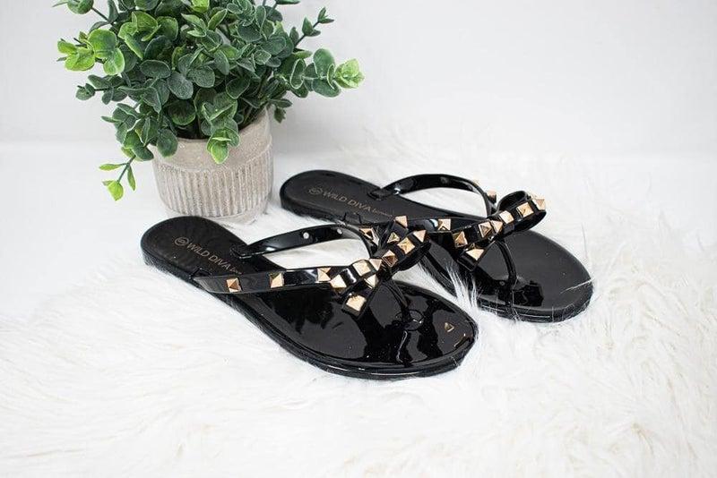Bows & Bling Slip-on Sandals *Final Sale*