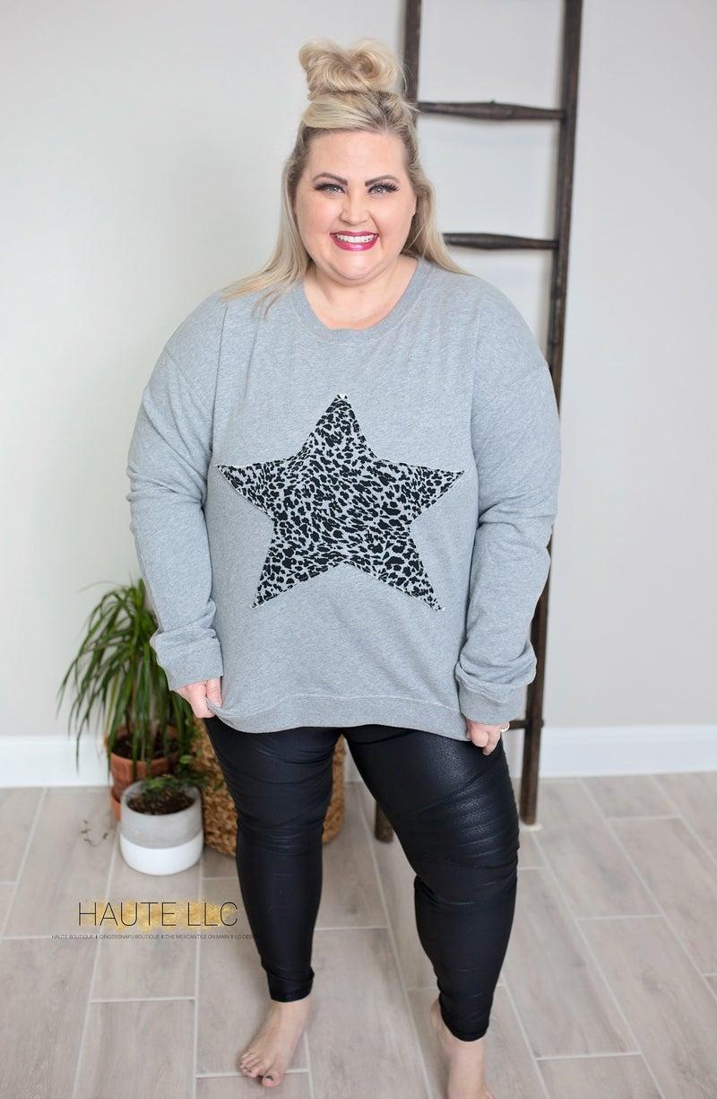 PRE-ORDER Cheetah Star Sweatshirt