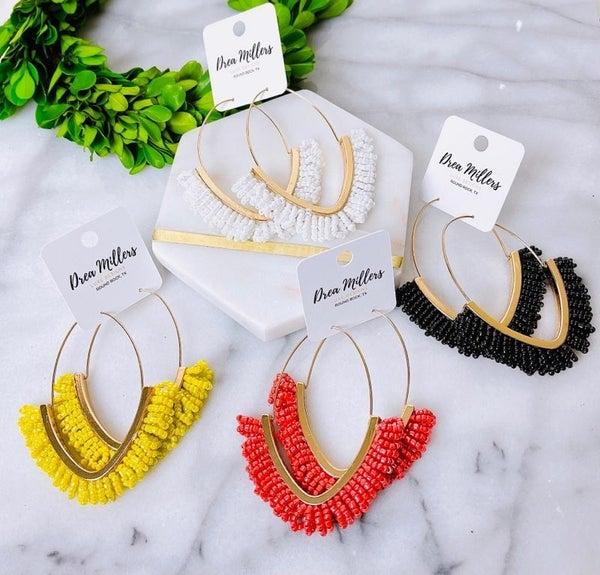 DM Large Beaded Loop Earrings